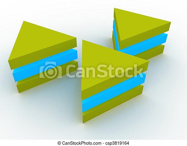 concept, tridimensionnel - csp3819164