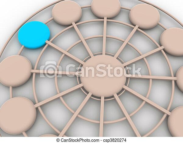 concept, tridimensionnel - csp3820274