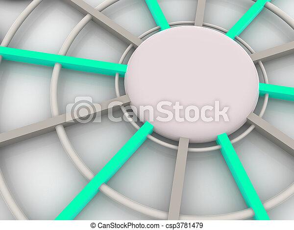 concept, tridimensionnel - csp3781479