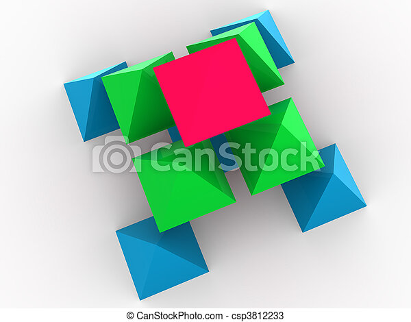 concept, tridimensionnel - csp3812233