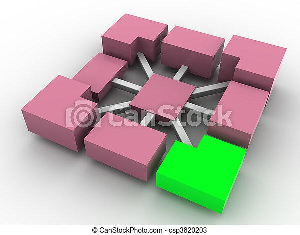concept, tridimensionnel - csp3820203
