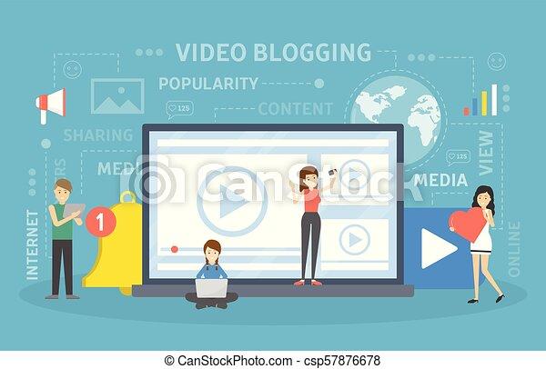 concept., vídeo, blogging - csp57876678