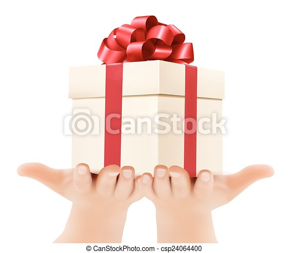 concept, vasthouden, schenking verlenend, boxes., geschenken., achtergrond, handen, vakantie - csp24064400
