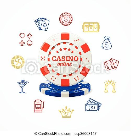 El concepto del casino. Vector - csp36003147