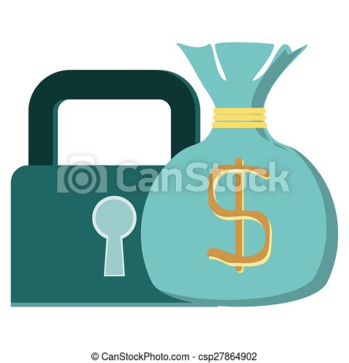 concept vector graphic protecting wealth money lock vector rh canstockphoto com Helmet Clip Art Protect the Earth