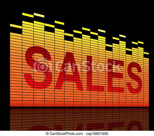 El concepto de ventas. - csp16601656