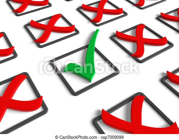 concept, voting/survey - csp7009099