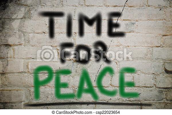 concept, vrede, tijd - csp22023654