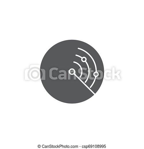 concept, vrijstaand, radar, vector, achtergrond, witte , pictogram - csp69108995