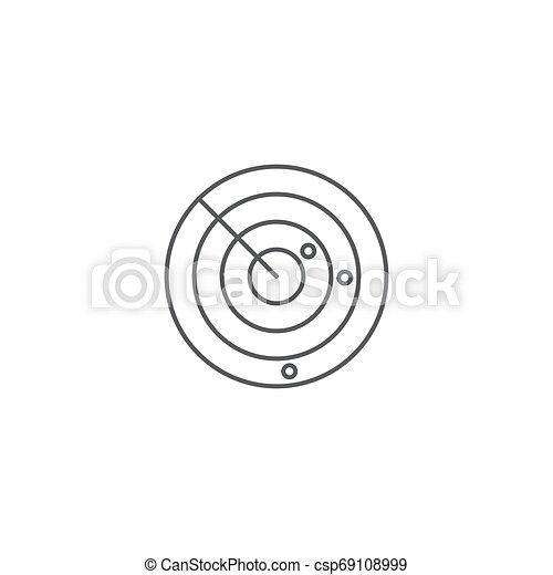 concept, vrijstaand, radar, vector, achtergrond, witte , pictogram - csp69108999