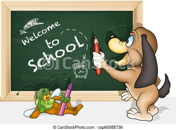Concept Welcome to School - csp60088736