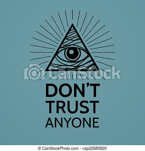 Concept with Eye of Providence - csp22680820
