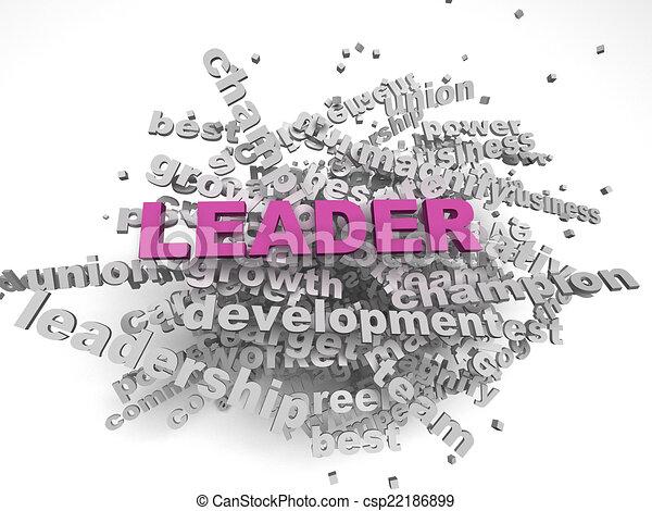 concept, woord, beeld, achtergrond, leider, wolk, 3d - csp22186899