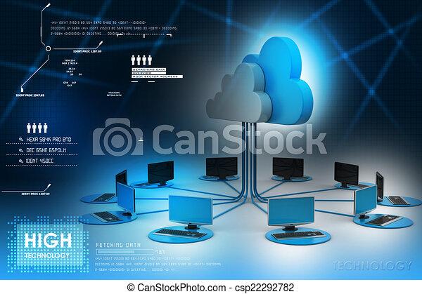 concepten, wolk, artikelen & hulpmiddelen, gegevensverwerking - csp22292782