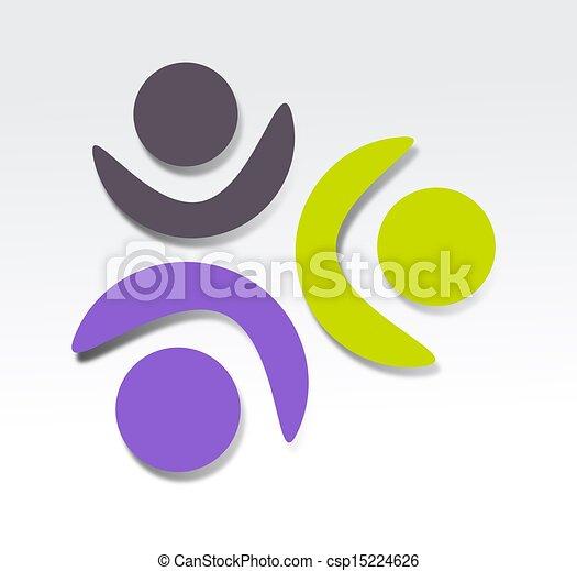 conception, coopération, icône - csp15224626