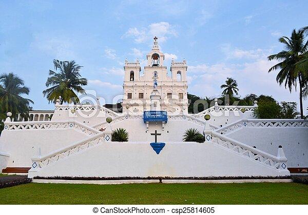 conception, goa, inde, église, panaji, marie, immaculé - csp25814605