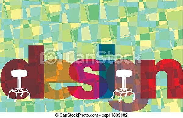 conception intérieur, illustration - csp11833182