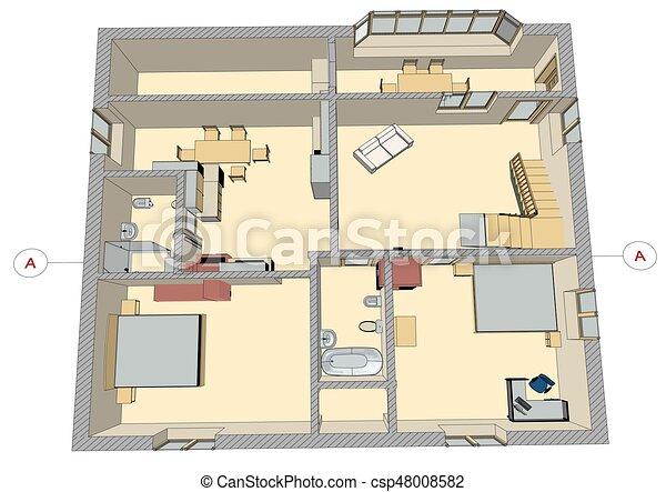 conception intérieur - csp48008582