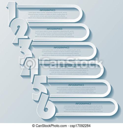 conception moderne abstraite, nombres, infographics - csp17092284