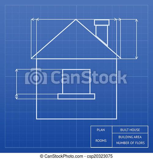 Conception Plan Maison Mesures Architectural Vecteur Hauteurs Projection Maison Inforgraphic Gabarit Toit Fenetre Canstock