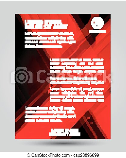 conception, résumé, aviateur, disposition, rouges - csp23896699