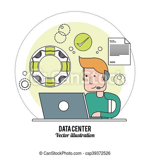 conception, technologie, centre, données - csp39372526