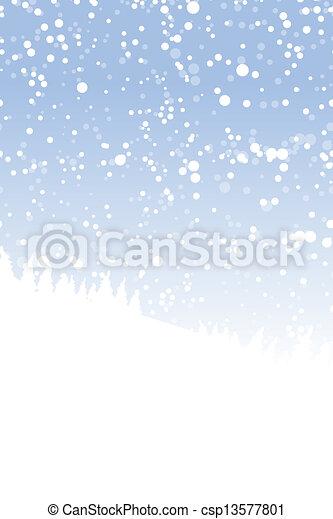 conception, ton, paysage, hiver - csp13577801