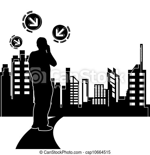 conception urbaine, scène, fond - csp10664515