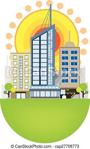 conception urbaine, scène - csp27708773