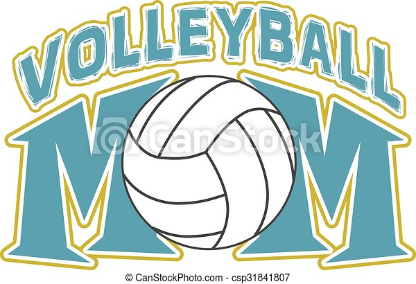 conception, volley-ball, maman - csp31841807