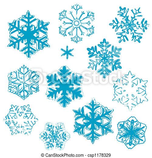 Conceptions flocon de neige conceptions flocons neige illustration stylis divers hiver - Dessiner un flocon de neige ...