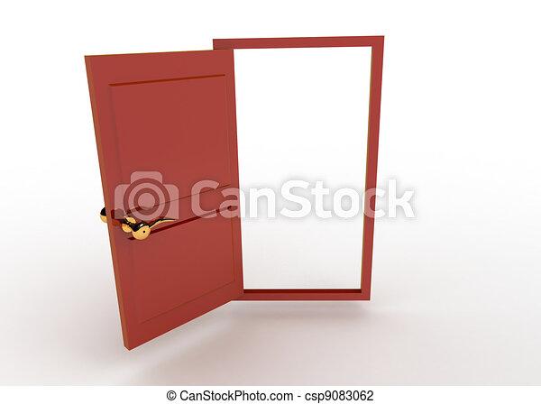 El concepto de puertas abiertas - csp9083062