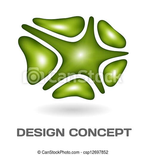 Un concepto de diseño abstracto - csp12697852
