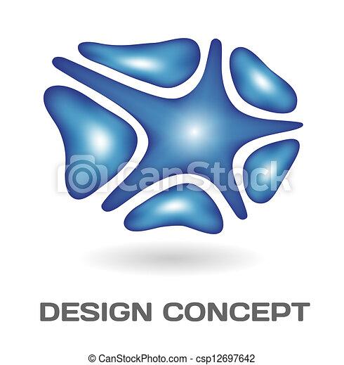 Un concepto de diseño abstracto - csp12697642