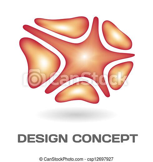 Un concepto de diseño abstracto - csp12697927