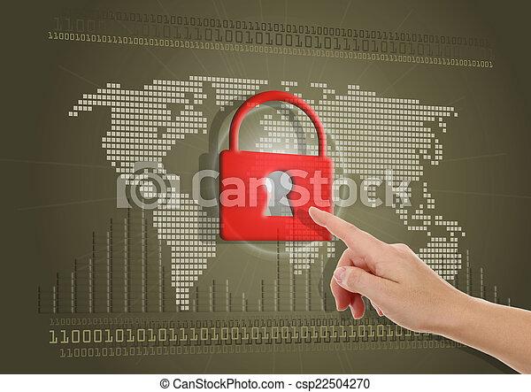 Aseguren o bloqueen el concepto de acceso a Internet - csp22504270