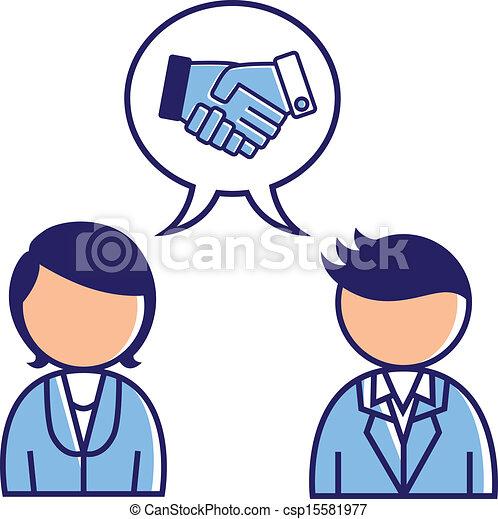 Concepto de acuerdo de negocios - csp15581977