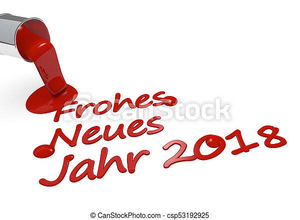 Feliz año nuevo alemán concepto 3D - csp53192925