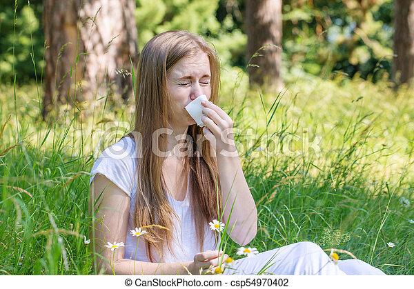 El concepto de una alergia - csp54970402