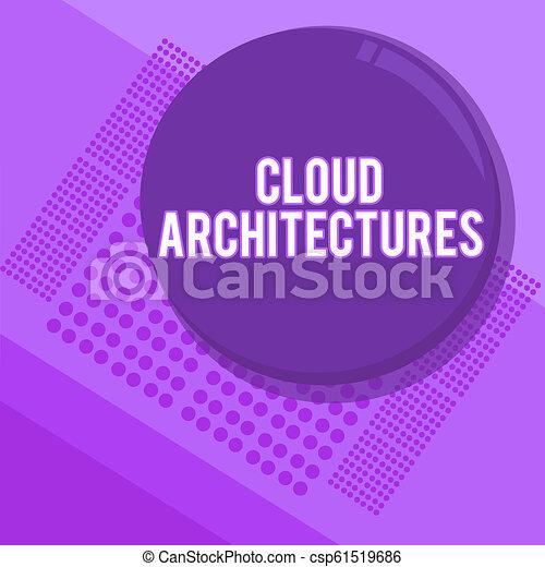 concepto, architectures., texto, dirigido, escritura, aplicaciones, significado, vario, bases de datos, escritura, nube, softwares - csp61519686