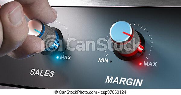 El concepto de negocios, aumentar las ventas y el margen - csp37060124