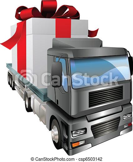 Un concepto de camión gigante - csp6503142