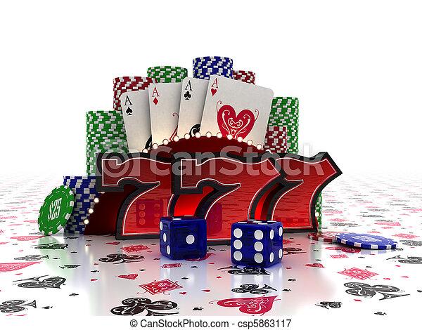 El concepto del casino - csp5863117