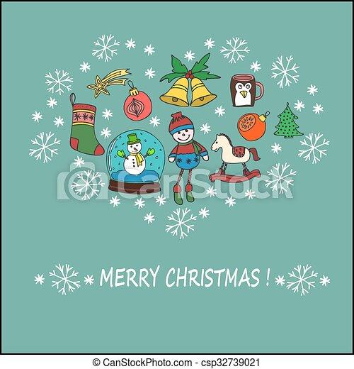 El concepto de celebración navideña - csp32739021