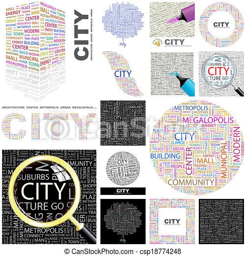 Ciudad. Concepto ilustración. - csp18774248