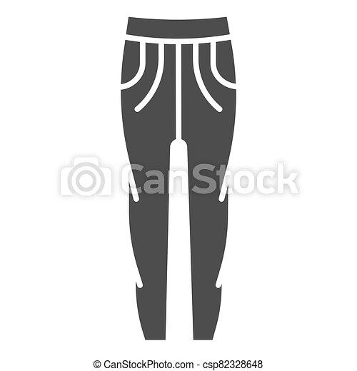 concepto, concepto, tela, icono, sweatpants, graphics., glyph, deportes, móvil, vector, ropa, pantalones, estilo, pantalones, blanco, design., señal, sólido, plano de fondo, icono - csp82328648