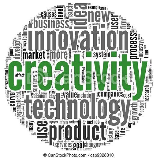 Palabras de concepto de creatividad en tag Cloud - csp9328310