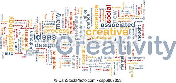 Creatividad concepto de fondo creativo - csp6887853