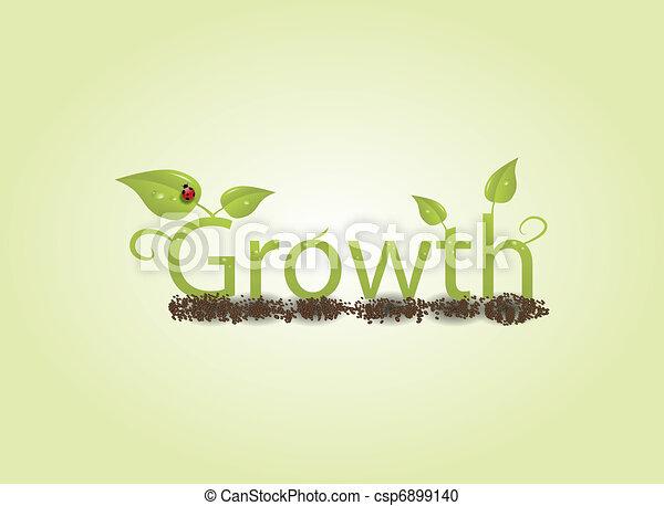 Un concepto de crecimiento - csp6899140