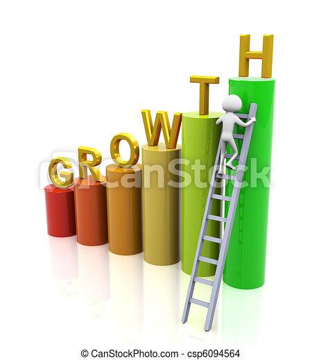 Un concepto de crecimiento - csp6094564
